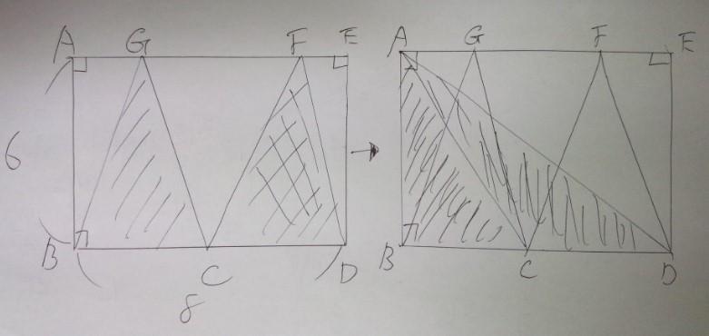 図形の面積の求め方のテクニック!(基本編)―「中学受験+塾なし」の勉強法・教え方